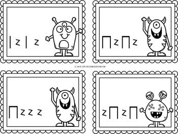 Monster Rhythm Cards Level 1 Rhythms: quarter notes