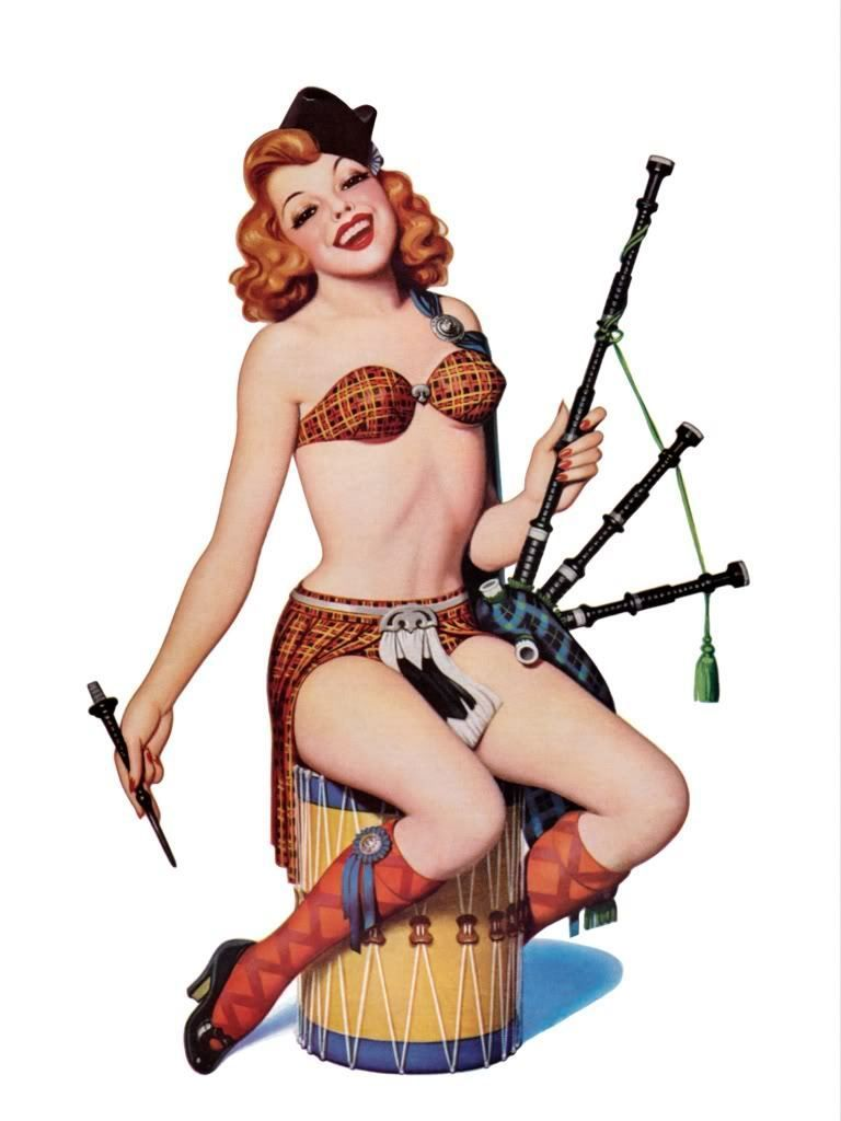 hot irish pin up girl