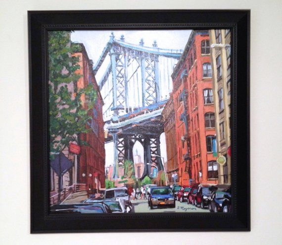 Brooklyn Painting New York Art Manhattan Bridge Dumbo Brooklyn