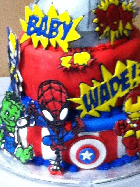 Marvel Baby Super Hero Cake Baby Shower Baby Shower Boys
