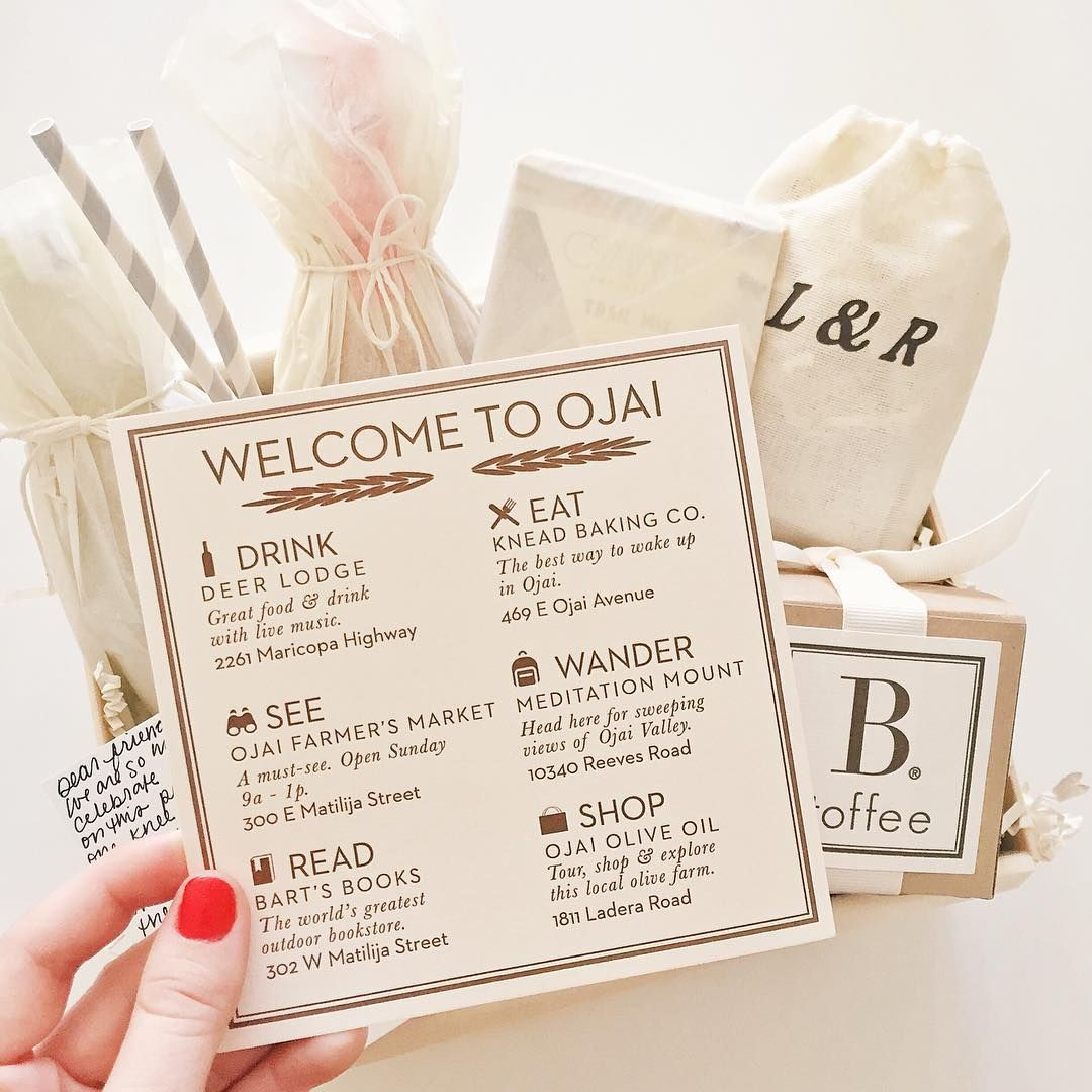 A sweet and special #customgift to welcome guests to an #Ojai ...