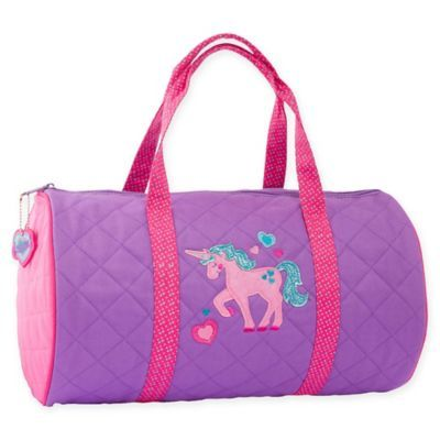 3aab23433b79 Stephen Joseph Unicorn Quilted Duffle In Purple | Products in 2019 ...