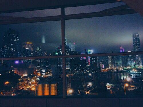 Window View Of City At Night City View Night Window View City Night City
