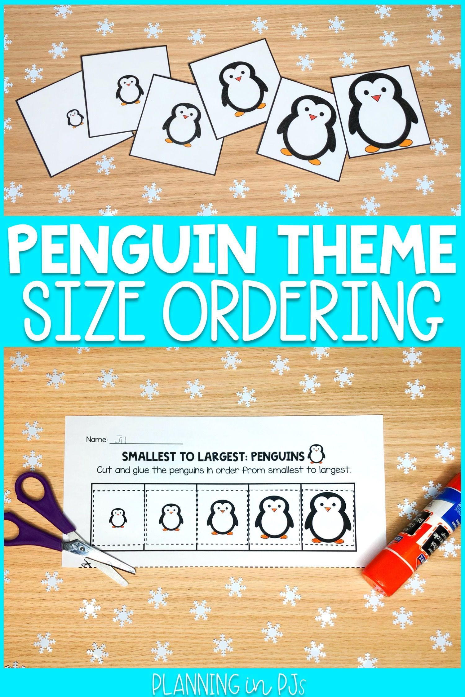 Penguins Size Ordering From Smallest To Largest