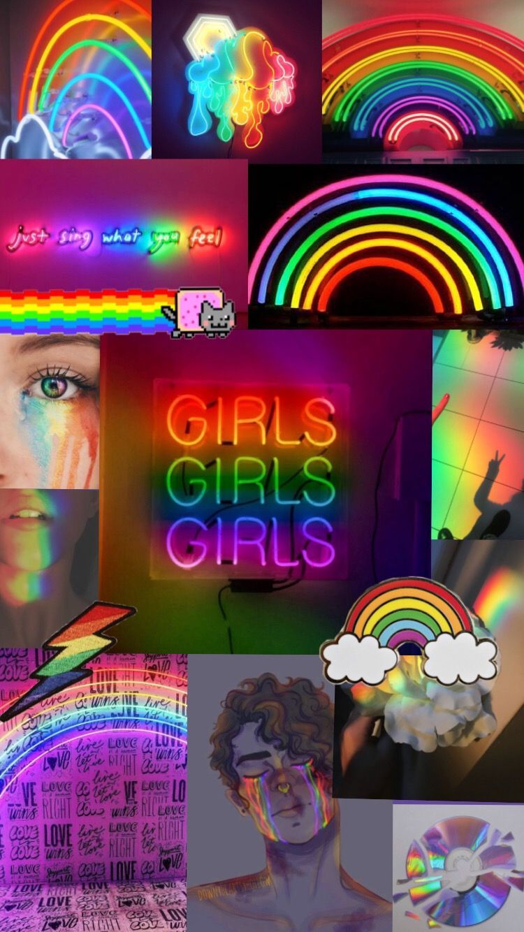 Rainbow Aesthetic Rainbowaesthetic Wallpaper Em 2020 Wallpaper Rainbow Poster De Parede Imagem De Fundo Para Iphone