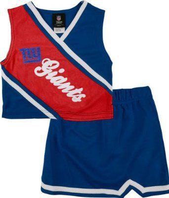 reputable site 22baa fe3a0 Amazon.com: New York Giants Toddler 2 Piece Cheerleader Set ...