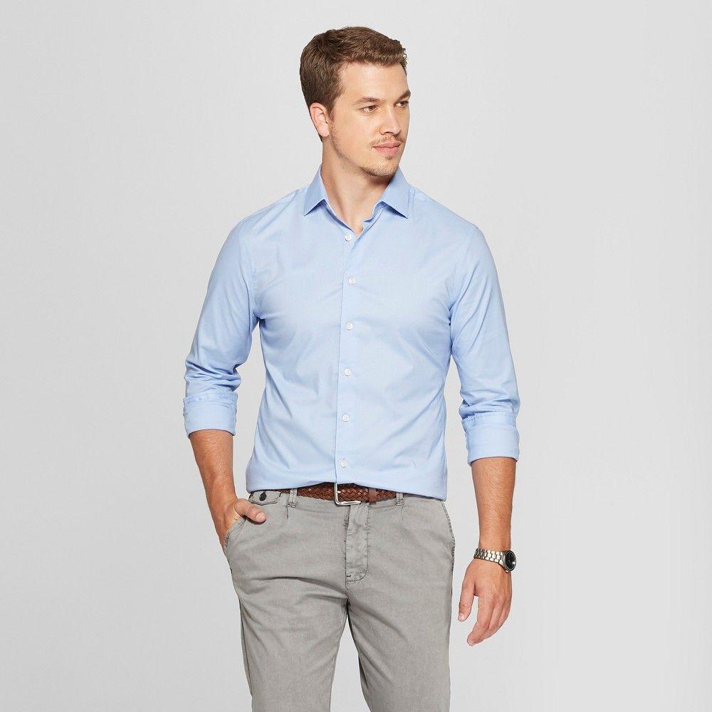 Mens slim fit long sleeve buttondown shirt goodfellow