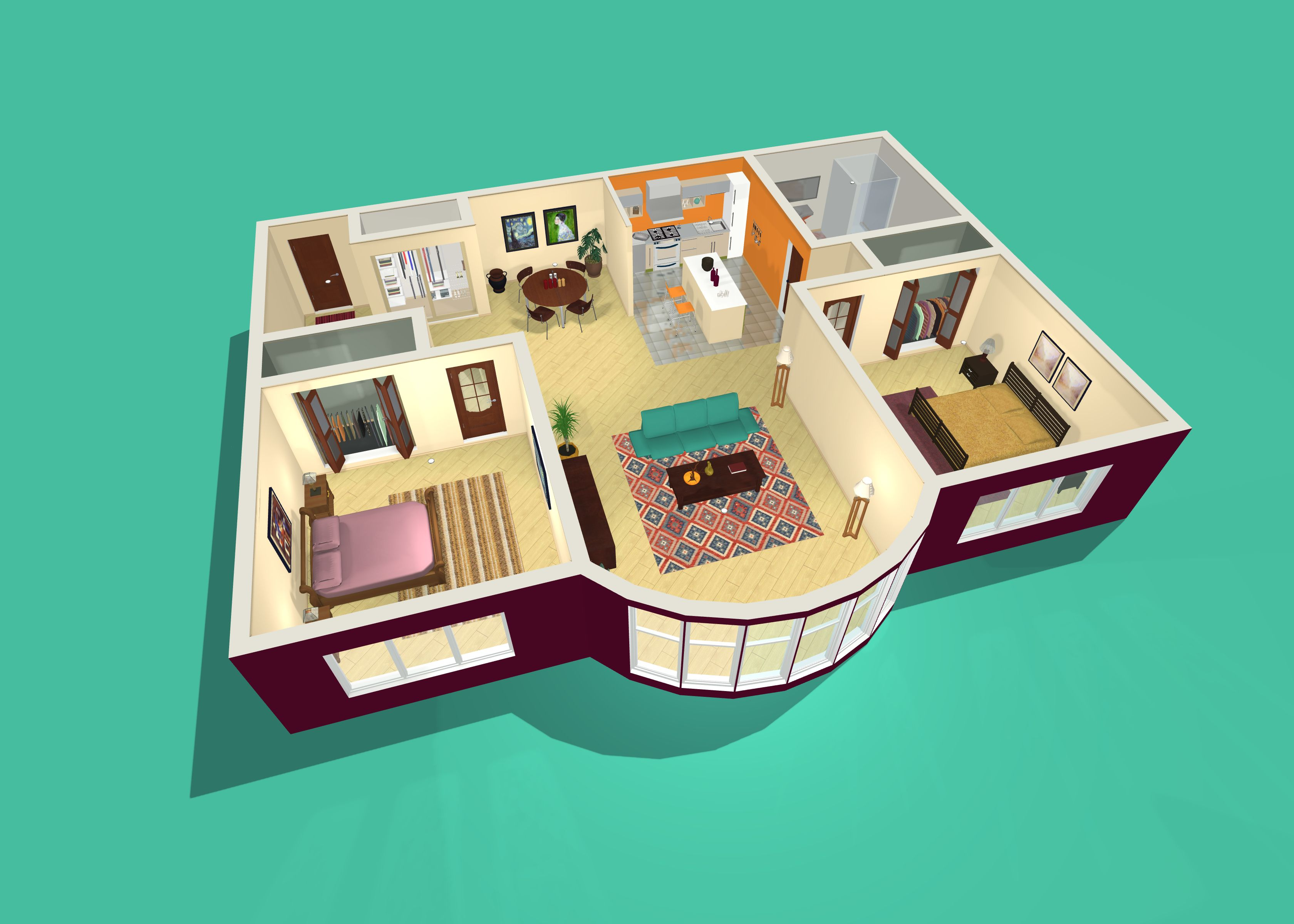 Crate the homeofyourdreams in LiveHome3D dreamhome