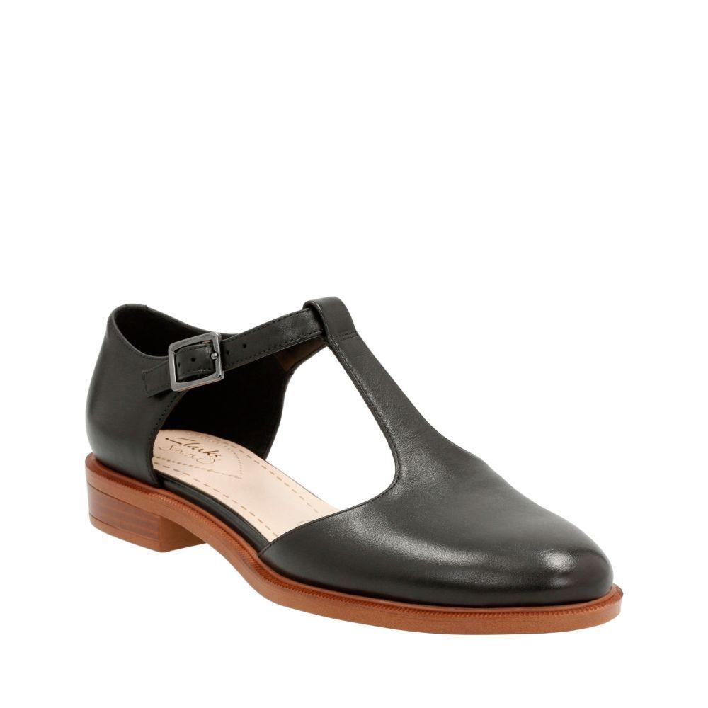 Taylor Palm Black Leather - Clarks