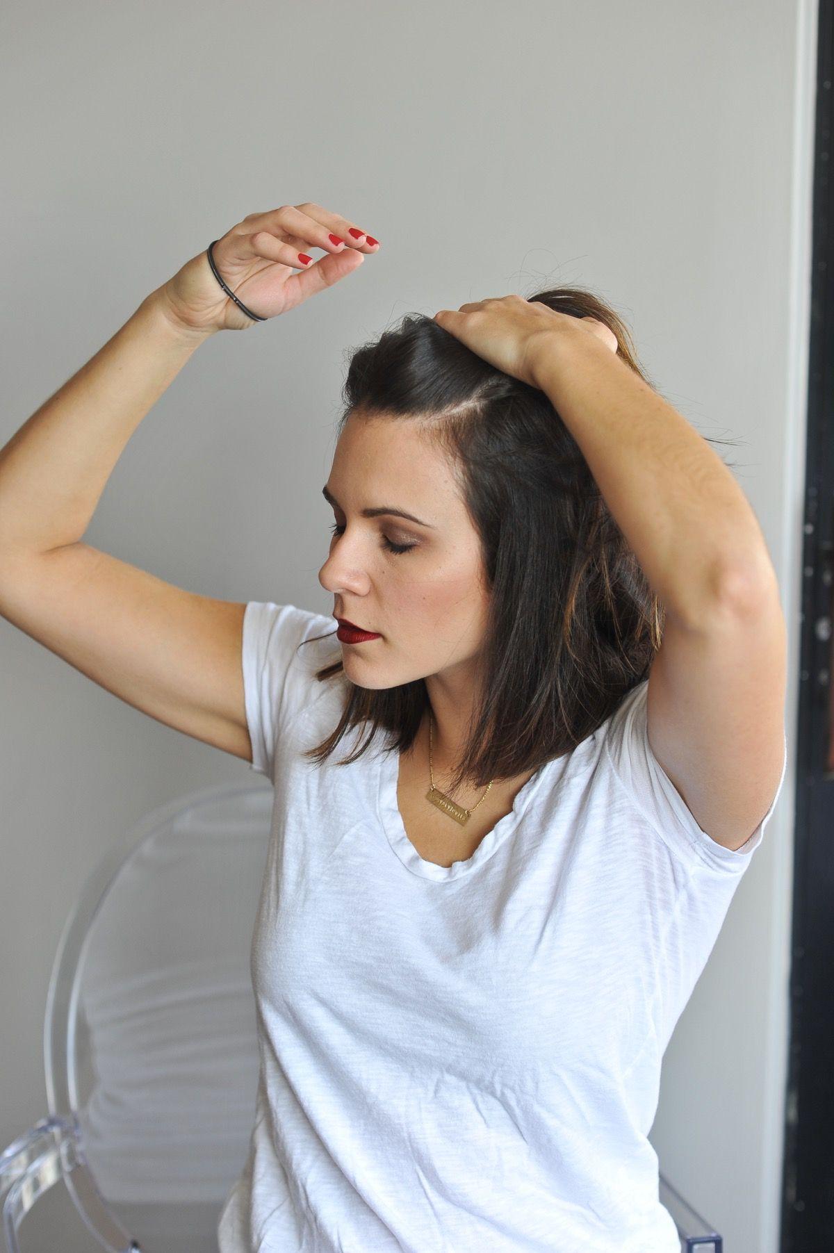 How To Do A Half Top Knot With Short Hair Hair Short Hair Styles