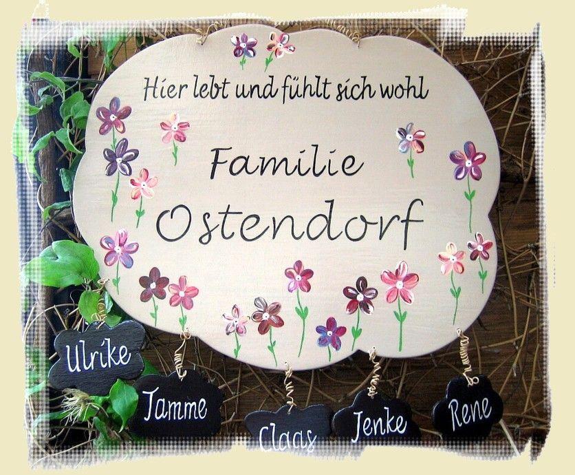 TÜRSCHILD Blüten: gestaltbar für Patchworkfamilien ...