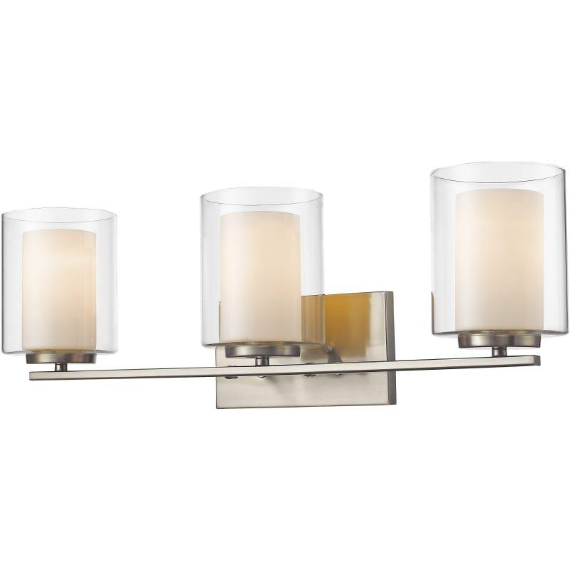 Photo of Z-Lite 426-3V Willow 3 Light 24″ Wide Bathroom Vanity Light Brushed Nickel Indoor Lighting Bathroom Fixtures Vanity Light