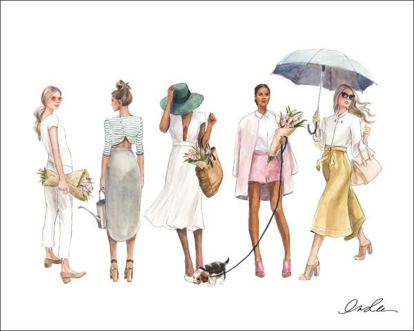 April Print In 2020 Bff Drawings Fashion Illustration Collage Cute Illustration