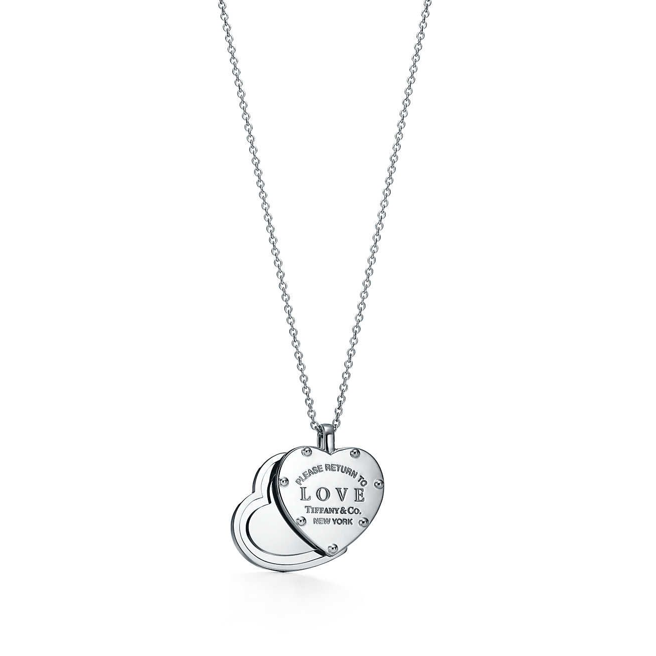 Return to Tiffany Love sliding heart pendant in sterling silver, small Tiffany & Co.