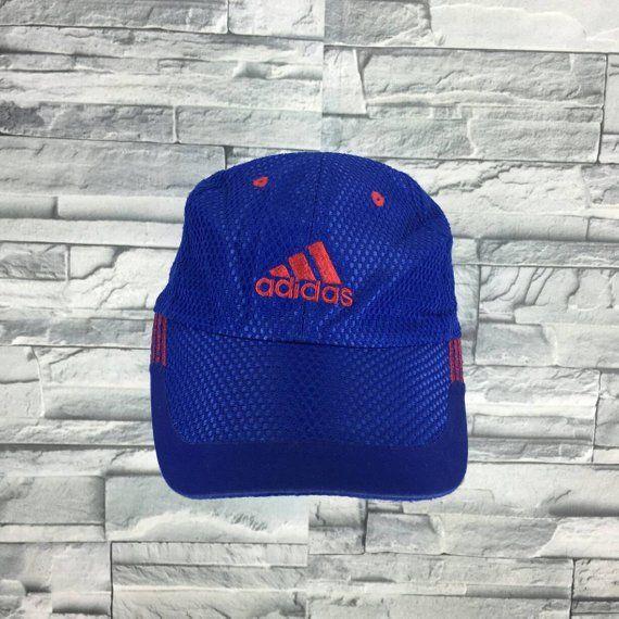ADIDAS EQUIPMENT Cap Vintage 90 s Adidas Sportswear Cap Snapback Sportswear  Adidas Hat Adidas Big Logo Apparel Adjustable Adidas Blue Cap cabccfb54af3