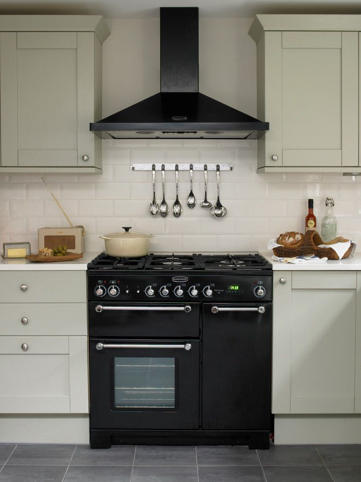 Charming Propane Cooker Kitchen Victorian With Beige Tile Backsplash Beige Wall  Black Range Black Range Hood Gray