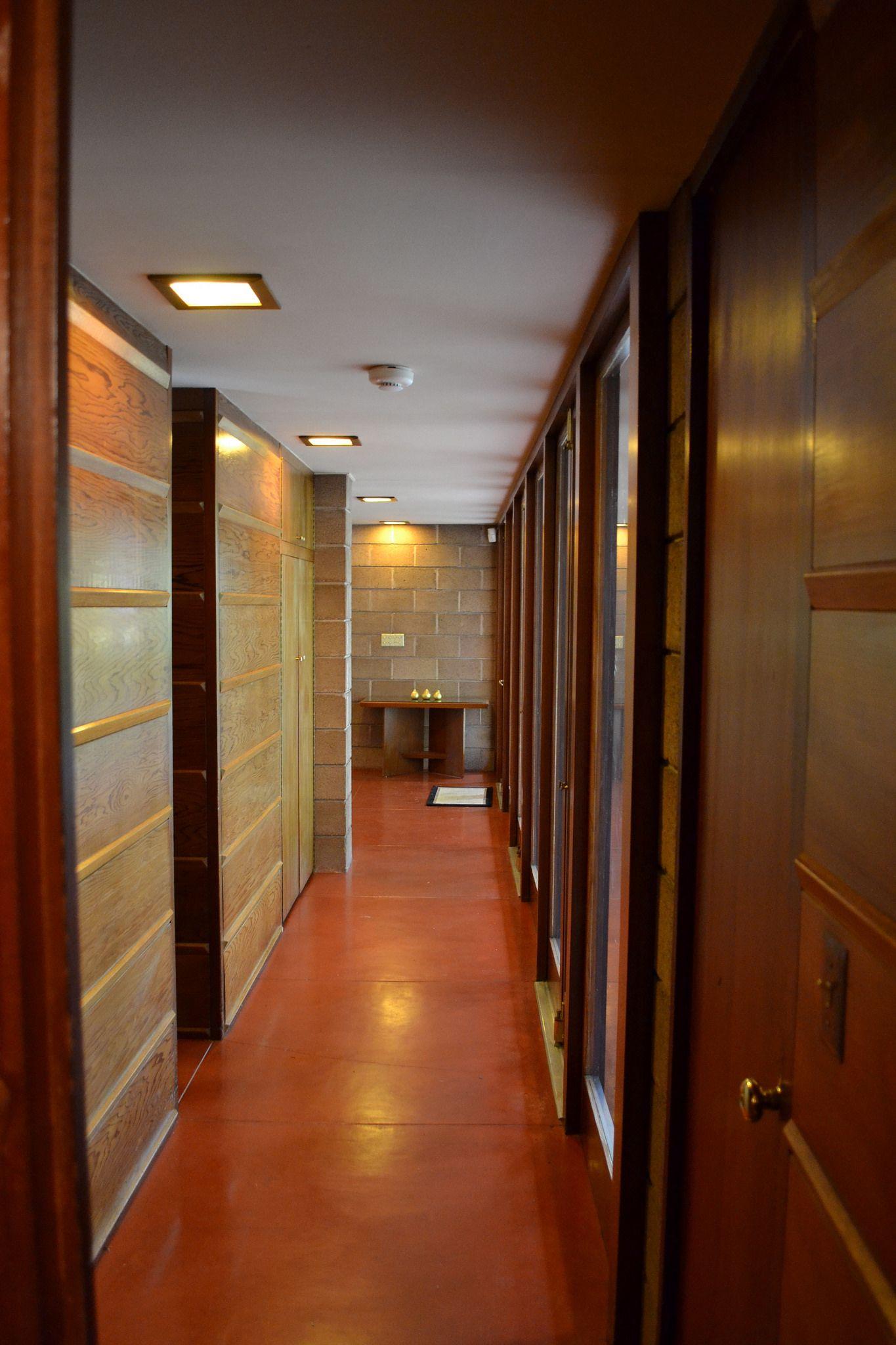 Frank Lloyd Wright\'s Barnes House | Usonian, Frank lloyd wright ...