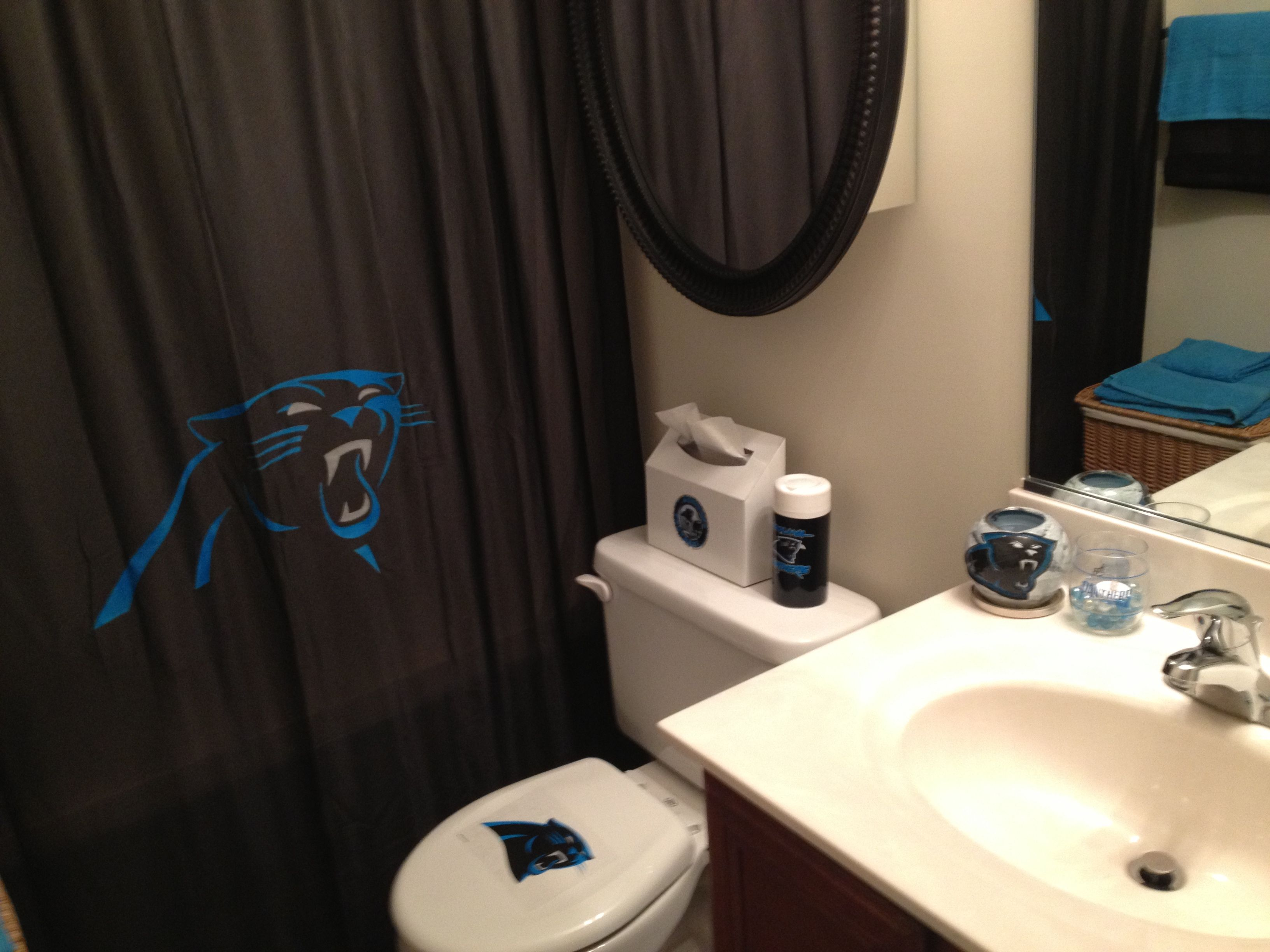 Panther bathroom carolina panthersbathroom ideasbathrooms decor also best panthers images on pinterest rh