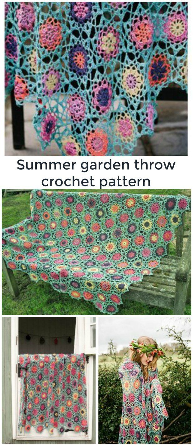 So pretty floral garden crochet throw pattern link includes how floral garden crochet throw pattern link includes how you can buy it bankloansurffo Image collections