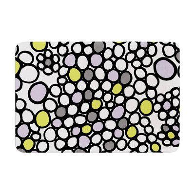East Urban Home Pebbles by Emine Ortega Bath Mat Color: Lilac