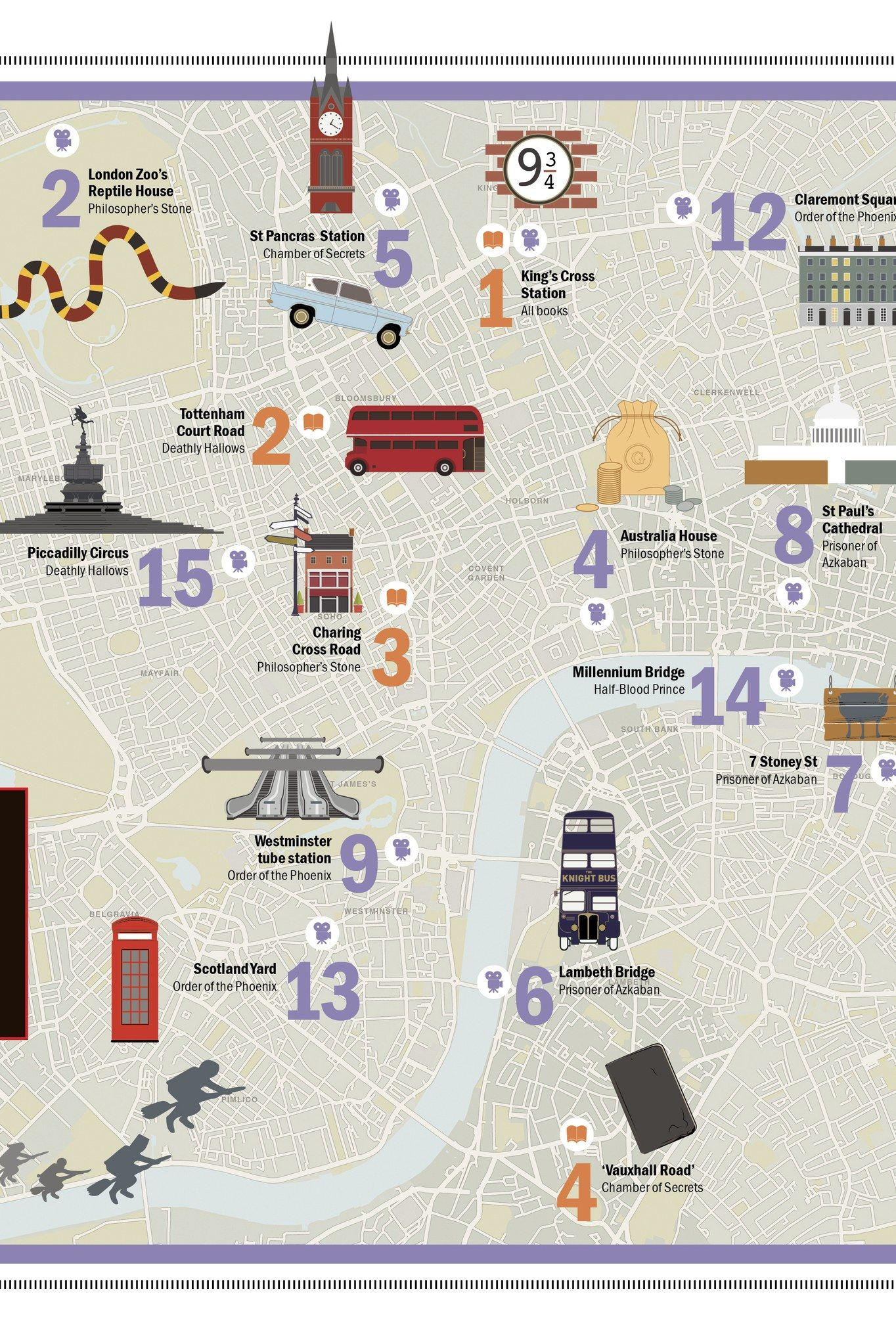 Harry Potter London Tour Map.Potterheads Now Have An Official Map Of Harry Potter S