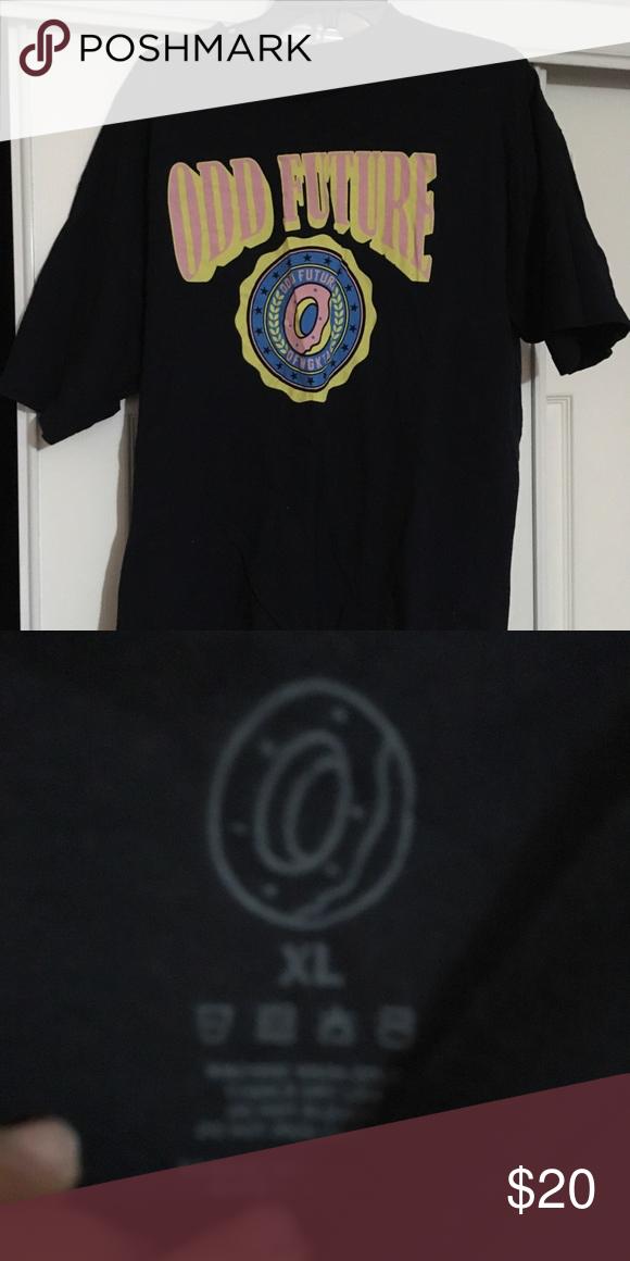 83e5d2173f2 Odd Future Navy T Shirt Donut logo Odd Future Shirts Tees - Short Sleeve