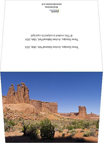 Greetings Card-Three Gossips, Arches National Park, Utah, USA-6x8 inch Greetings Card made in the UK