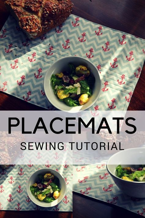 SEWING TUTORIAL: Easy Placemats for Beginners | On the Cutting Floor: Printable pdf sewing patterns and tutorials for women