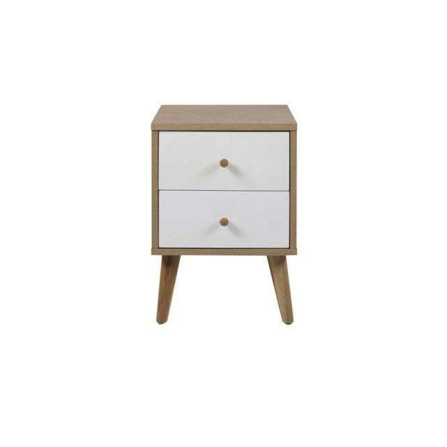 chevet scandinave 2 tiroirs nordic achatdesign prix avis notation livraison chevet. Black Bedroom Furniture Sets. Home Design Ideas