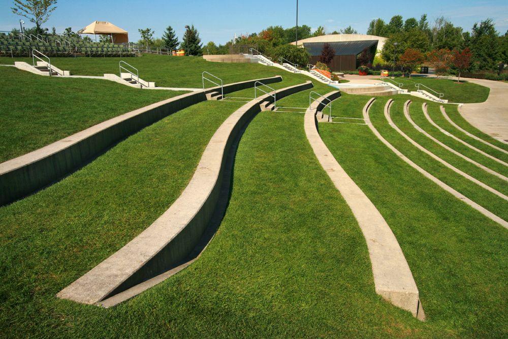 Amphitheatre Seats Grass Landscape Stairs Landscape Architecture Urban Landscape