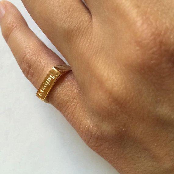 Engraved ring Personalized Ring men / women ring I