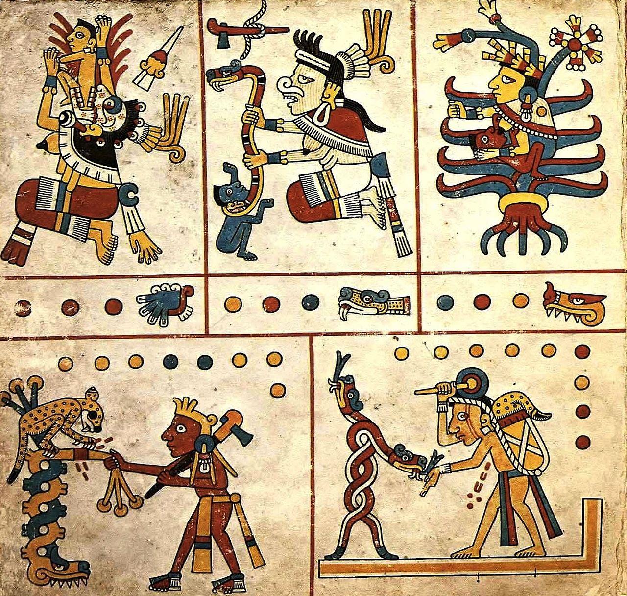 Resultado de imagen para The Codex Fejérváry-Mayer is an Aztec Codex of central Mexico