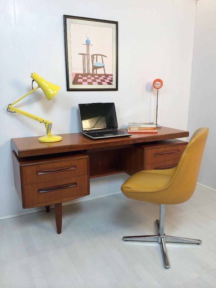 Retro Vintage Teak G Plan desk 1970 s Danish style in ...