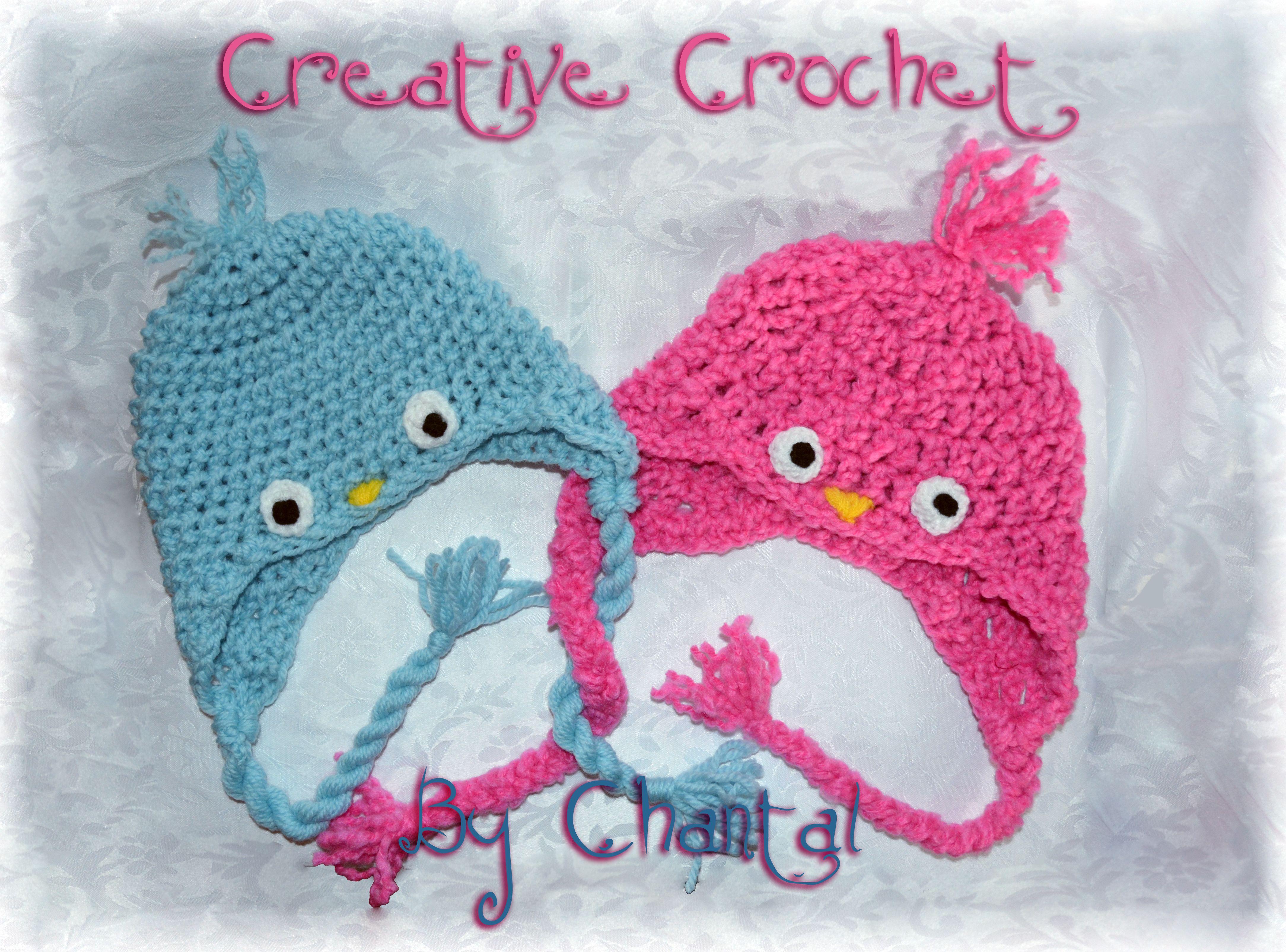 Birdy crocheted hats