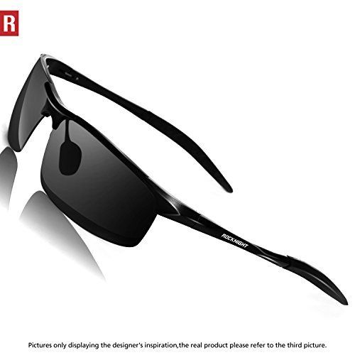 a7de4bf2168 Rocknight Driving Polarized Sunglasses For Men UV Protection Ultra  Lightweight Al Mg Golf Fishing Metal Sunglasses