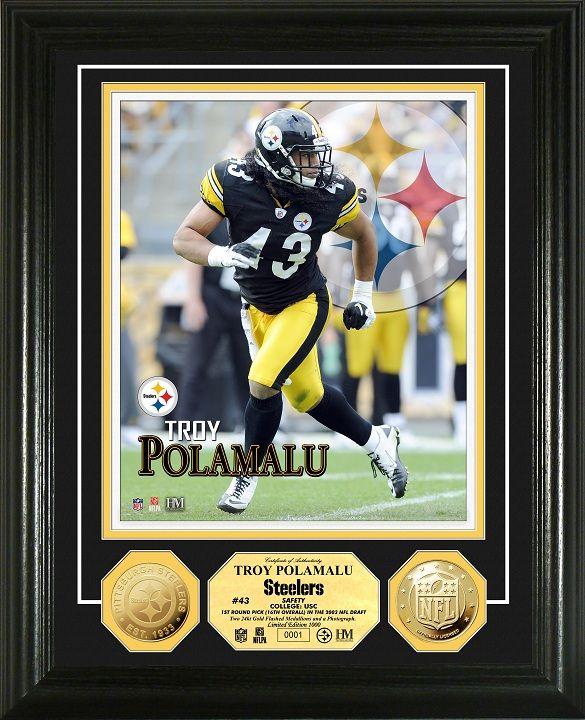 ea89e3aa202 AAA Sports Memorabilia LLC - Troy Polamalu Gold Coin Photo Mint, $99.95  (http: