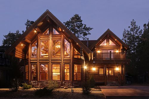 Logs Light And Windows Log Cabin Homes Log Homes Cabin Homes