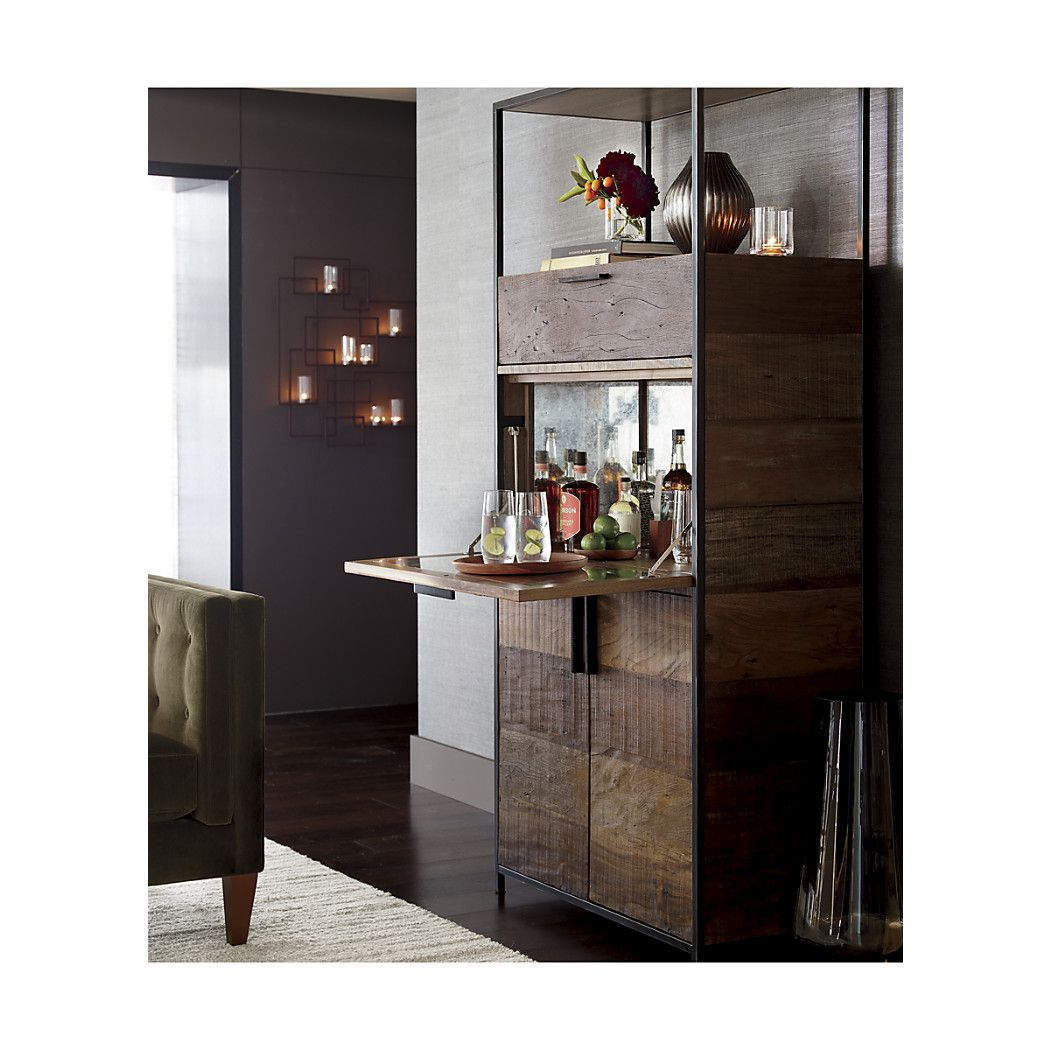 Clive Bar Cabinet A Drop Down Shelf S Glware Under The Top Display