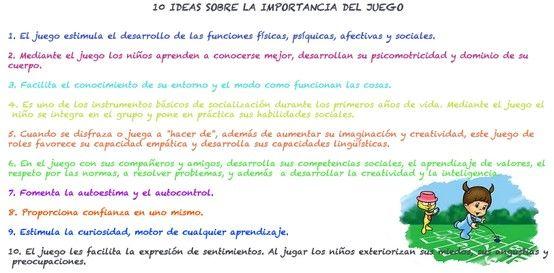 10 Ideas Sobre La Importancia Del Juego School