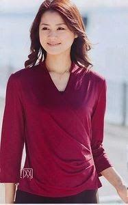 yo elijo coser: Patrón gratis: blusa cruzada con drapeado