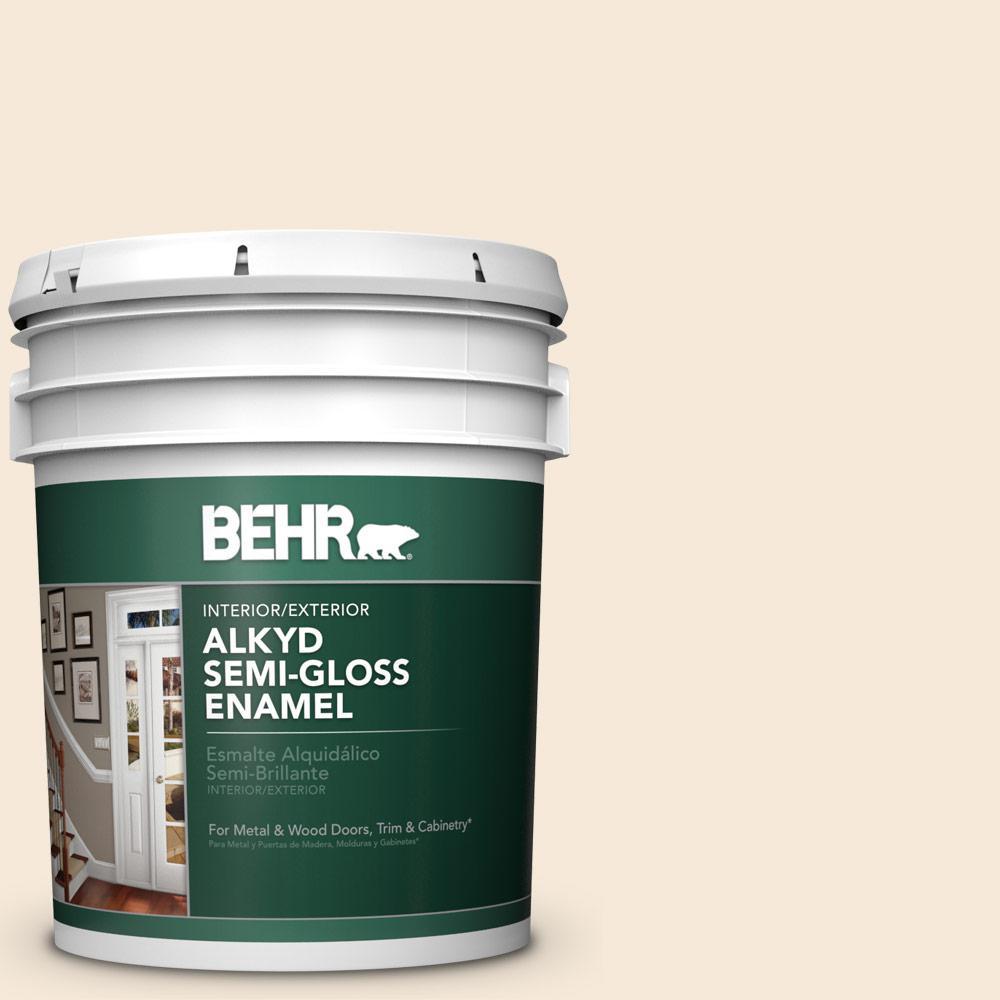 Behr 5 Gal Bxc 47 Marquee White Urethane Alkyd Semi Gloss Enamel Interior Exterior Paint 390005 Exterior Paint Interior Paint Interior Exterior