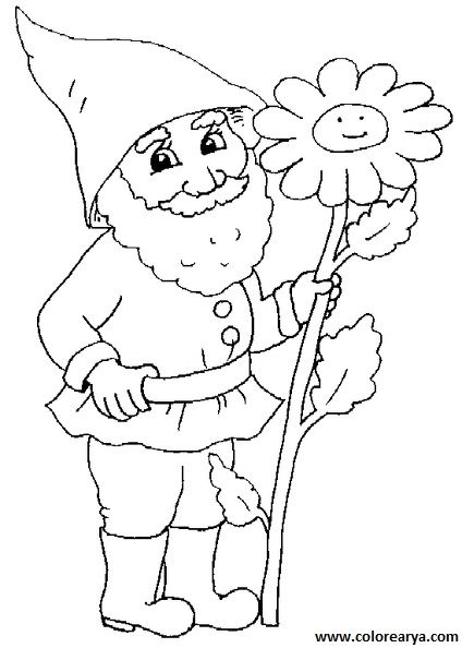 Duendes O Gnomos Para Colorear Buscar Con Google Sunflower Coloring Pages Coloring Pages Disney Coloring Pages