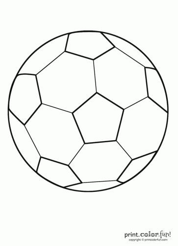 printable soccer coloring pages | Soccer ball | Print. Color. Fun ...