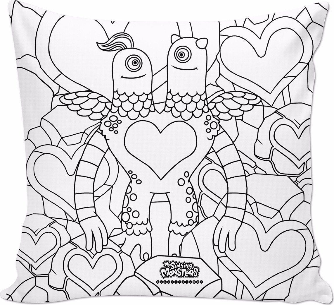 My Singing Monsters Coloring Book Schmoochle Pillow My Singing Monsters Singing Monsters Free Disney Coloring Pages