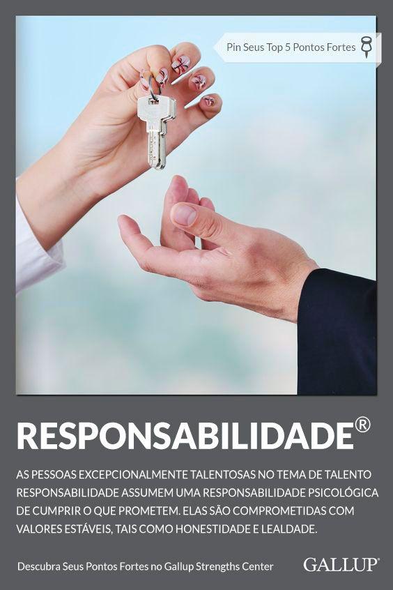 Responsabilidade Responsibility Descubra Seus Pontos Fortes