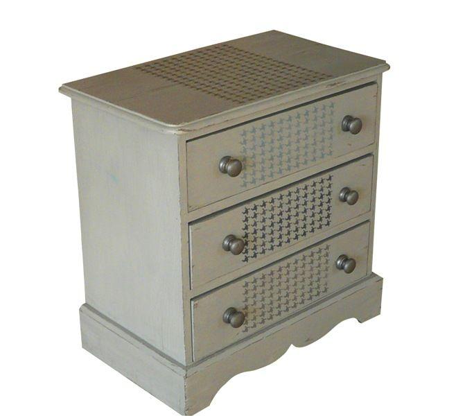 satinelle orage pochoir pied de poule eleonore deco meubles mobilier de salon eleonore. Black Bedroom Furniture Sets. Home Design Ideas