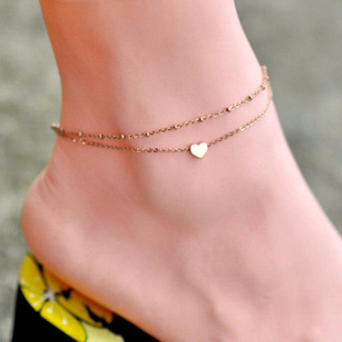 and on jewelry dainty rosegold satellite gold best images heart jewlery braelet anklets chain pinterest bracelet wedding anklet rose