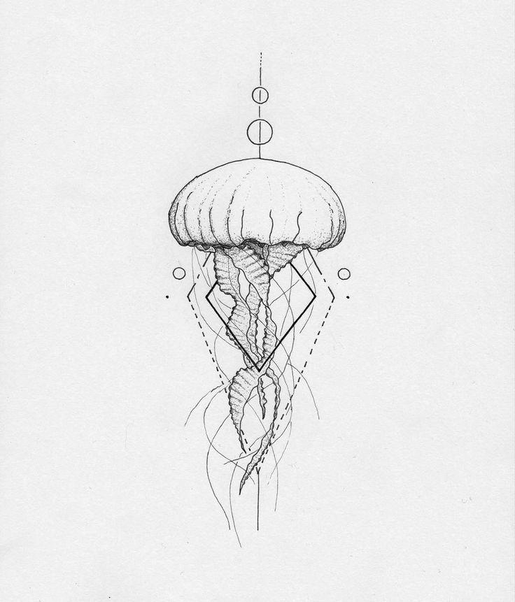 Pin By Julie Gallion On Tattoos Tattoos Jellyfish Tattoo Drawings