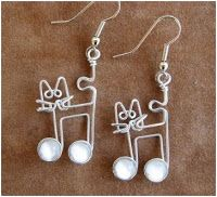 Whimsical Animal Wire Work Jewelry