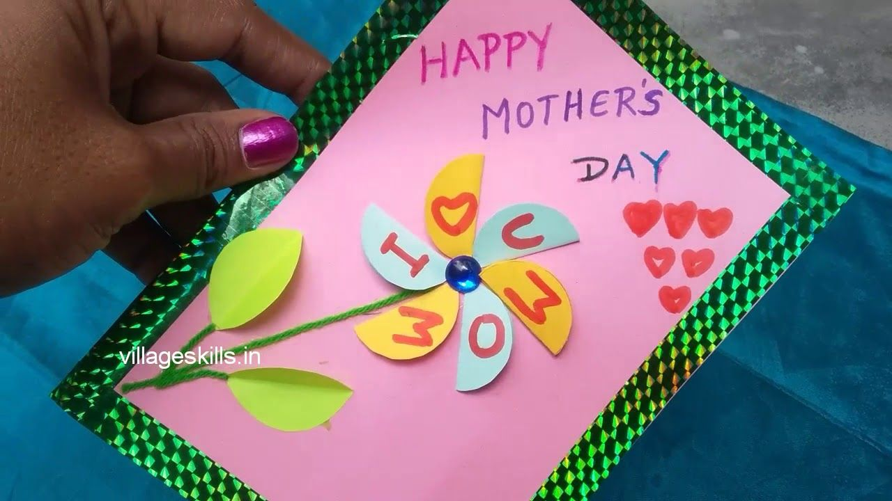 diy easy motherus day special greeting cards making ideashand